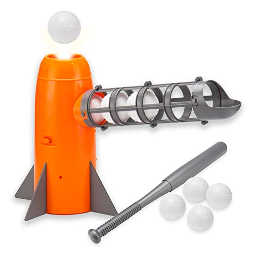OMNISAFE Baseball Pitching Machine Toys Baseball Pitcher Sets Includes 5 PP Baseballs amp Extendable Ball Bat Outdoor Training Ball Play Sport Games for Kids Boys amp Girls
