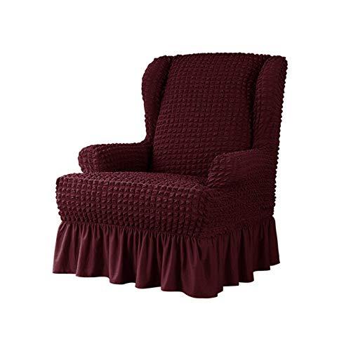 GCP Fundas para sillas, Funda elástica para sillas, Funda elástica para Silla Individual, Antideslizante, Todo Incluido, para Taburete Tiger (Rojo Vino, 1 Pieza)