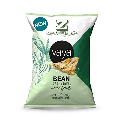 VAYA Bean Salt Snack Chips - feinen Salznote, 40 % weniger fett, Kichererbsen-Basis von Zweifel (6 x 80g)