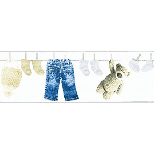 WALL-ART umweltfreundliche Baby Schlafzimmer Bordüre 3D Teddy Bär Wandbilder helle Wandfarbe für Babyzimmer