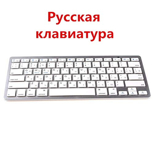 Logo Kemile Wholesale Professional Ultra-Slim Wireless Keyboard Bluetooth 3.0 Keyboard Teclado for Apple for iPad Series iOS System (Color : RUX5W)
