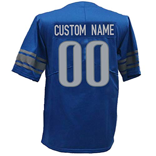 Custom All Teams Football Jerseys Personalized Any Name and Number Jerseys for Mens/Womens/Youth S-6XL (D_Lion)