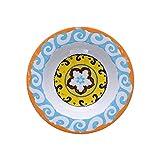 Rose & Tulipani - Piatto Fondo Arancio Set da 6 pz - Serie Nador - Set Piatti, Servizio Piatti - Stoneware - Ø 23; h3,5 cm