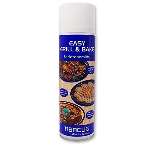 EASY GRILL & BAKE 500 ml (3115) - Backtrennmittel Spray Backtrenn-Mittel Antihaft Backpapierersatz Backpapier-Ersatz Waffeleisen Pfannen Formen Grillrost Brotbackmaschinen - ABACUS