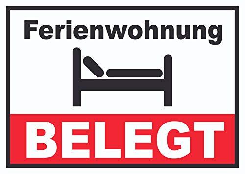 HB-Druck Ferienwohnung BELEGT Schild Pension Motel Hotel Zimmer Frei A4 (210x297mm)