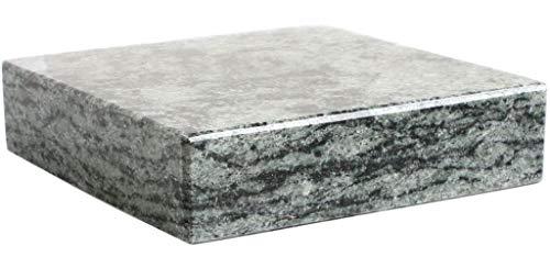 KOKA Granit-Sockel Oliven Grün Vasen-Sockel Grabschmuck Untersetzer Grab-Sockel eckig
