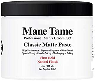 Mane Tame Classic Matte Paste 120ml - Natural Finish, Firm Hold - Made in USA, Water-Based, Spreads Evenly, Absorbs Quickl...