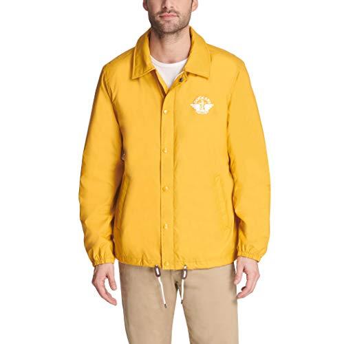 Dockers Men's The Brady Lightweight Nylon Coaches Jacket, Gold, Small