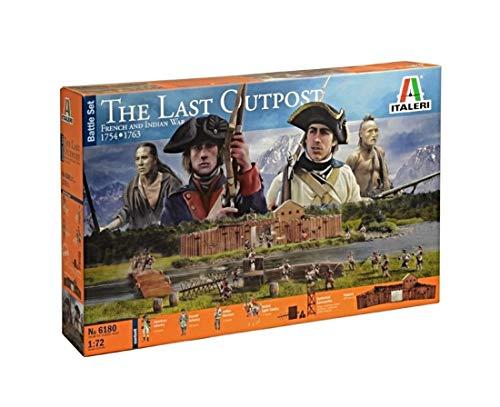 Italeri 6180 - Battleset: The Last Outpost modellismo soldatini Scala 1:72, non verniciati