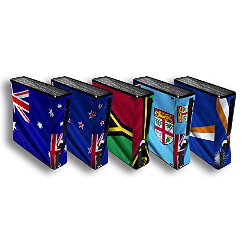 atFoliX Diseño Pegatina compatible con Microsoft Xbox 360 Slim, elija su diseño favorito, Design Skin (Banderas de Australia y Oceanía)
