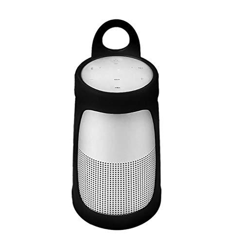 Silikon Schutzhülle für Bose Revolve, Einfach Reise Tragen Silikon Hülle Hülle Cover für Bose So&Link Revolve Bluetooth Lautsprecher (Schwarz)