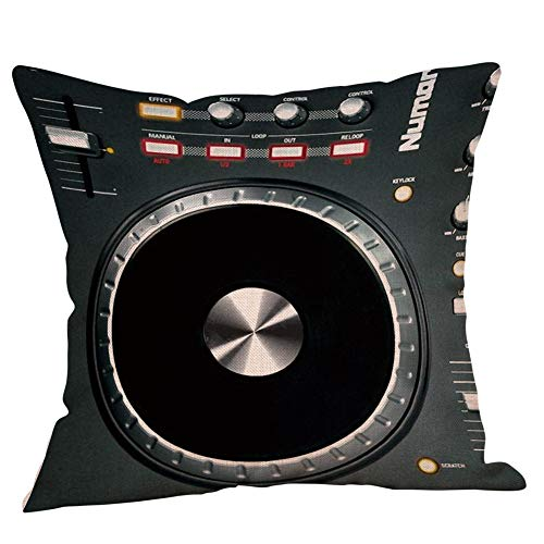 Sallydream- Fundas Cojin 45x45 Digital DJ Music Sofa Square Funda de Almohada (F)