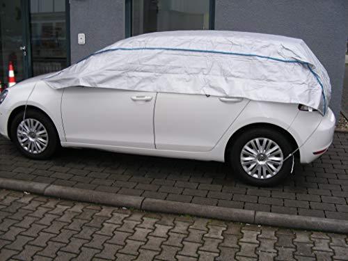 Kley & Partner Halbgarage Autoabdeckung UV-beständig atmungsaktiv wasserfest für VW UP! in Silber