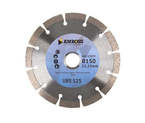 Amboss UBS 10E - Diamant-Trennscheibe Ø 150 mm x 22,2 mm - Beton/Baustellenmaterialien/Stein | Segmenthöhe: 7 mm (gesintert)