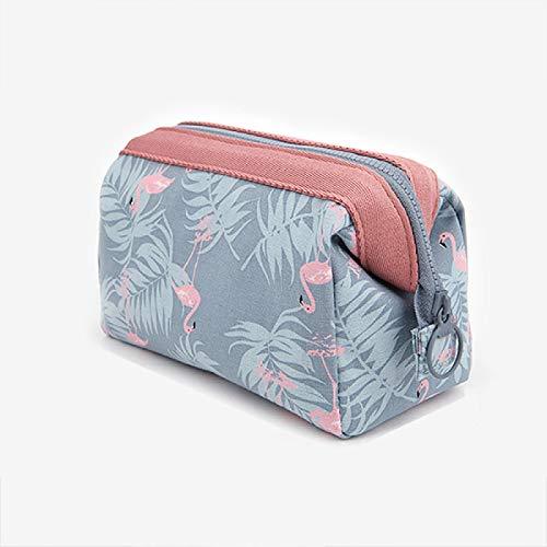 DAISUCAL fashion cosmetic bag Women waterproof makeup bags travel organizer Toiletry Kits Portable makeup bags Greyflamingo