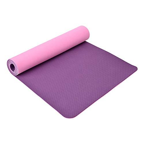 MH-RING Esterilla Yoga, Tapete de Yoga Ancho y Espesar, 8mm TPE Yoga Mat, Estera Yoga Ecológica de Ejercicios Antideslizante Esterilla de Entrenamiento para Pilates con Sistema de Alineación Corporal