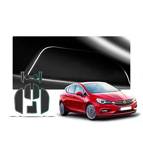 RUIYA Alfombrillas Antideslizante para Opel Astra K 2015-2018 Consola Central Interior Alfombra de goma Antideslizante Anti-polvo (Blanco)