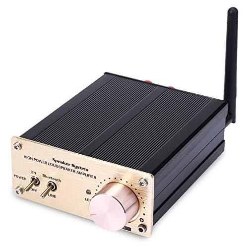 Amplificador de Audio Digital inalámbrico Bluetooth de 100 W, Amplificador de Control de Modo Dual para el hogar, Amplificador HiFi de computadora móvil Reproducción estéreo de música sin pérdida