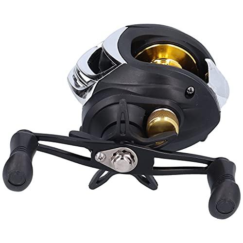 Gedourain Rueda de Pesca con Freno magnético, Carrete de Lanzamiento de Cebo Control de Perilla Ajustable Anillo guía de cerámica SiC Potente Sistema de frenado magnético con relación de transmisión