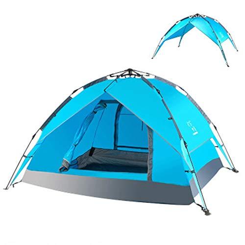 HZIH Tienda campaña, Pop Up automático Grandes Carpas Impermeable Abrigo del Sol Tiendas,3-4 Personas para Deportes al Aire Libre Camping Senderismo Viajes Playa Tienda
