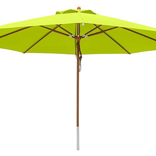 anndora® Sonnenschirm Marktschirm Gastronomie ø 4 m rund - mit Winddach Apfelgrün/Limette