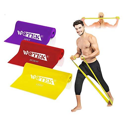 Bandas Elasticas Fitness Goma Elastica Fitness, 3 Gomas Elasticas Musculacion:1.5m/1.8m/2m gomas elasticas para mujeres y hombres,perfecto para Pilates,Yoga,Rehabilitación,Estiramiento, Entrenamiento