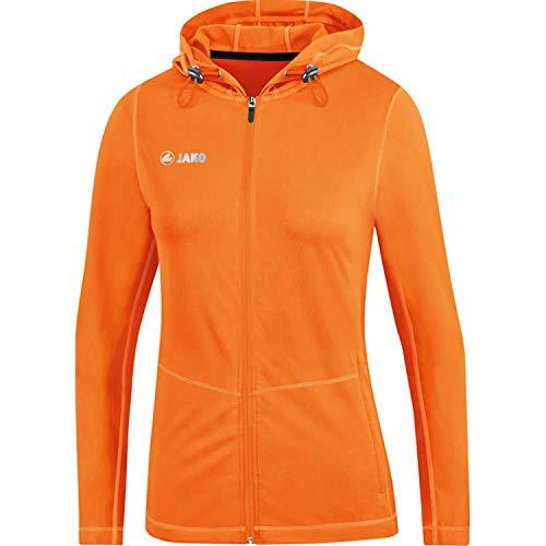 Veste à Capuchon pour Femme, Taille 44, Orange