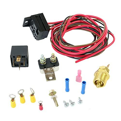 Drspear Radiador elétrico Motor Ventilador Termostato Interruptor de temperatura Kit de relé 3/8 '' 427 454