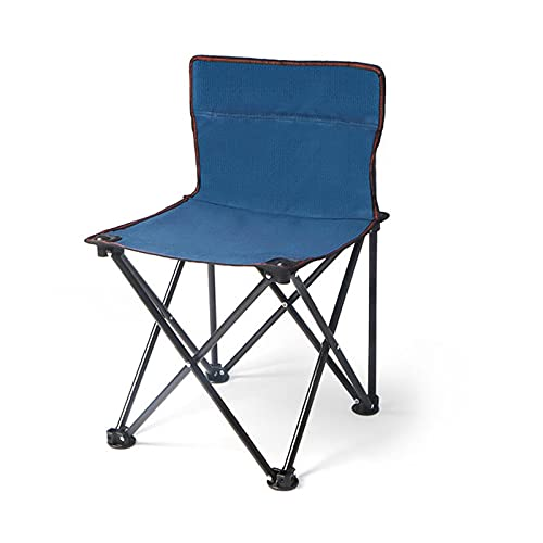 Silla Camping Silla de playa plegable compacta ultraligera para campamento al aire libre, playa, picnic, pescado, césped, deportes de senderismo, caza (azul oscuro) Silla camping plegable