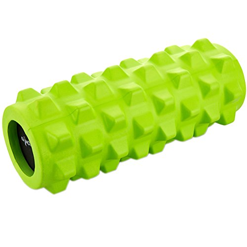 Motomo フォームローラー ストレッチローラー 筋膜リリース マッサージ 腰痛・肩コリ・筋肉痛を改善 (グリーン)