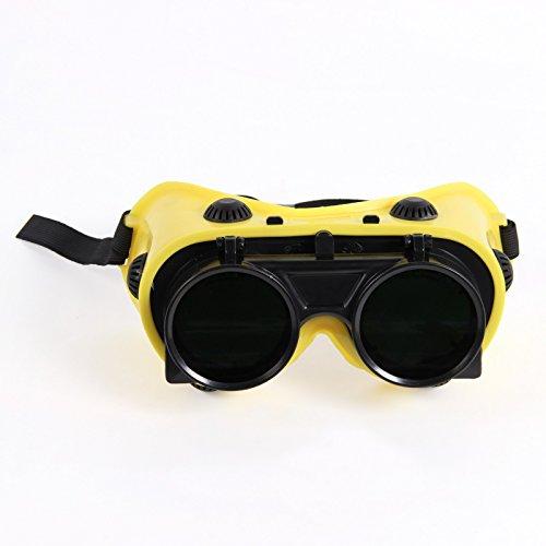 Schweißerbrille klappbar Vorhänger DIN 5 mit Kopfband und Seitenschutz geeignet für Brillenträger - schweisser-king.de: - Schutzbrille, Schweißbrille, Schweißschutzbrille