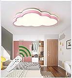 Plafoniera LED Lampada da soffitto nuvola Bambini Lampadario, Azanaz Moderno Luce creativa,Adatto a ragazzi, ragazze, camerette per bambini - Illuminazione della sala giochi (Rosa, Dimmer continuo)