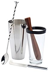 EVERYTHING YOU NEED TO MAKE THE PERFECT MOJITO: This set contains all the tools you need to start creating your very own Mojito, perfect for use when having guests CREATE EXCEPTIONAL COCKTAILS: Includes brushed stainless steel Boston shaker with mixi...
