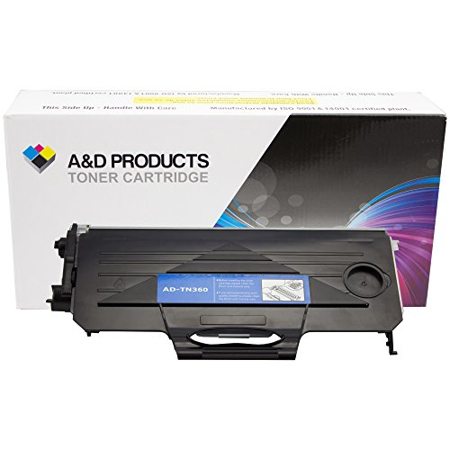 A&D Products Compatible Replacement For Brother TN360 Toner Cartridge High Yield Black (2,600 Page Yield) For Use With Brother DCP-7030, DCP-7040, HL-2140, HL-2170W, MFC-7340, MFC-7345N, MFC-7440N, MFC-7840W Printers