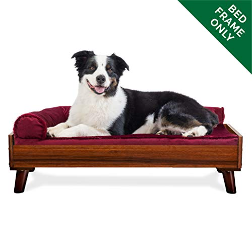 Furhaven Wooden Dog Bed with Mattress