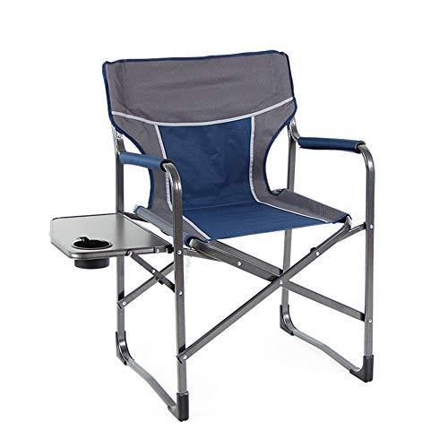 AQUYY Outdoor Lounge stoel, super multifunctionele vouwstoel, visstoel, outdoor stoel met tafel, picknick stoel, tuinstoel, strandstoel Blauw