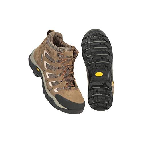 41ZpDCGHLKL. SS500  - Mountain Warehouse Field Waterproof Vibram Hiking Boots - Waterproof Wide Fit Rain Shoes, Durable Walking Boots, Suede…