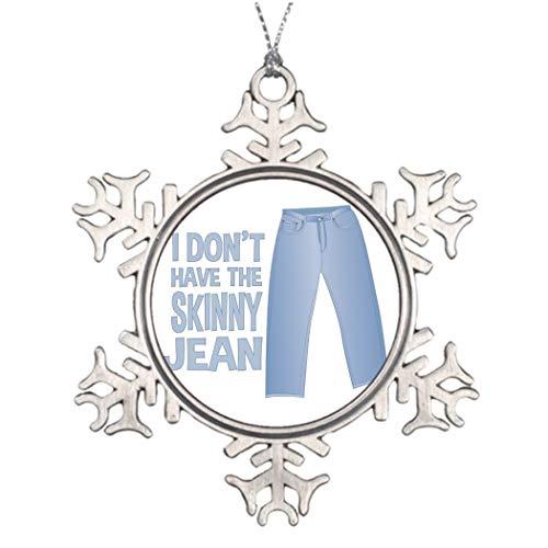 Nieuwigheid Sneeuwvlok Ornament Skinny Jean Photo Frame Kerstbroek Kerstmis Decoratieve Ornament Keepsake