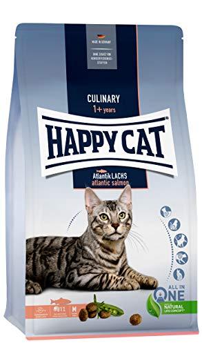 Happy Cat 70555 - Culinary Adult Atlantik Lachs - Katzen-Trockenfutter für ausgewachsene Katzen und Kater - 10 kg Inhalt
