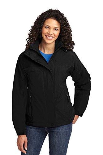 Port Authority® Ladies Nootka Jacket. L792 Black/Black L