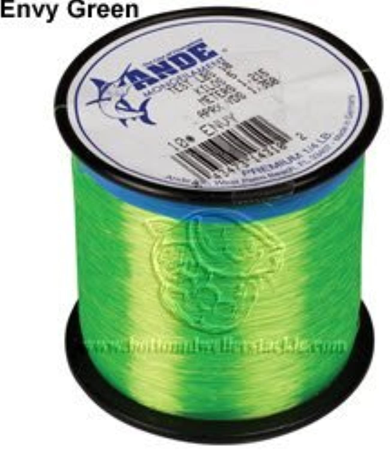 ande a140ge premium monofilament, 1pound spool, 40pound bright green finish  test, ntmyxv3754-sporting goods