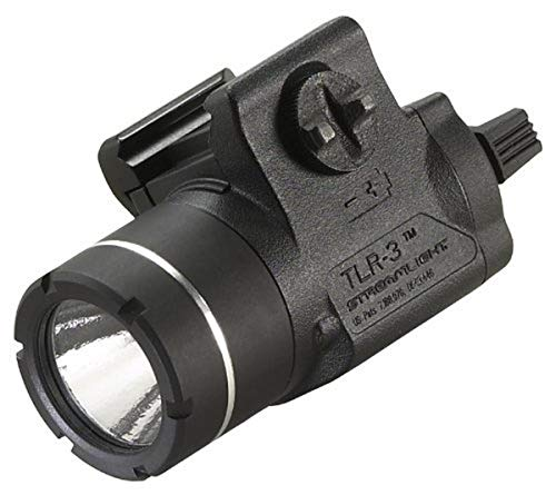 Streamlight 69220 TLR-3 Weapon Mounted Tactical Light with Rail Locating Keys - 125 Lumens,Black