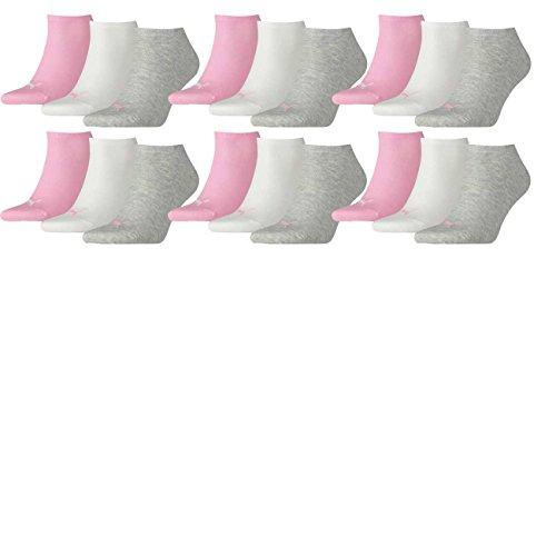 PUMA Unisex Invisible Sneaker Socken 6er Pack, Größe:39-42, Farbe:Prism Pink (395)
