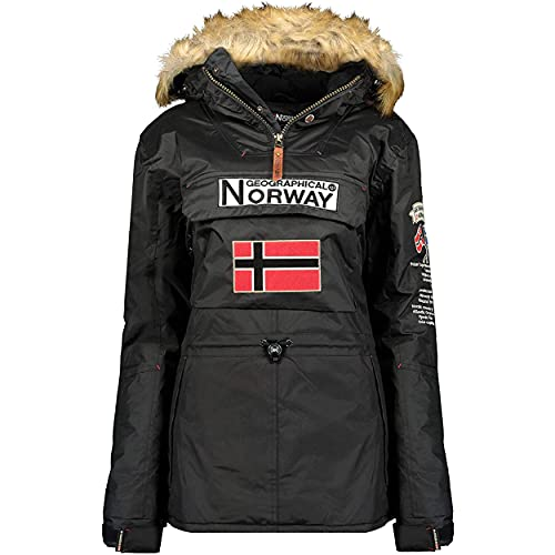 Geographical Norway BRIDGET LADY - Parka Impermeable Mujeres - Abrigo Grueso Capucha...