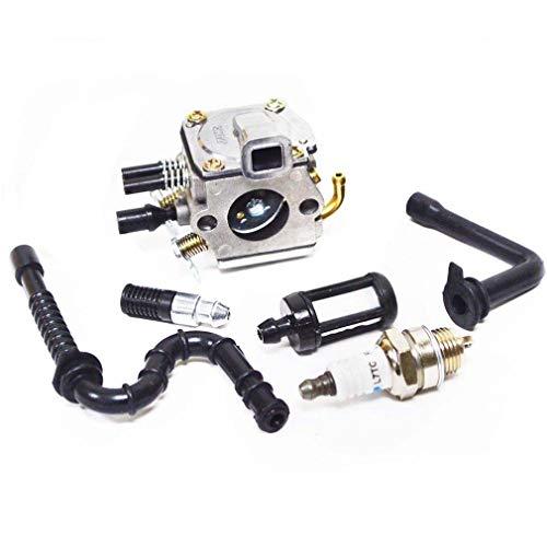AISEN Vergaser mit Zündkerze Benzinfilter Für Stihl 036 MS360 034AV 034 Super & MS340