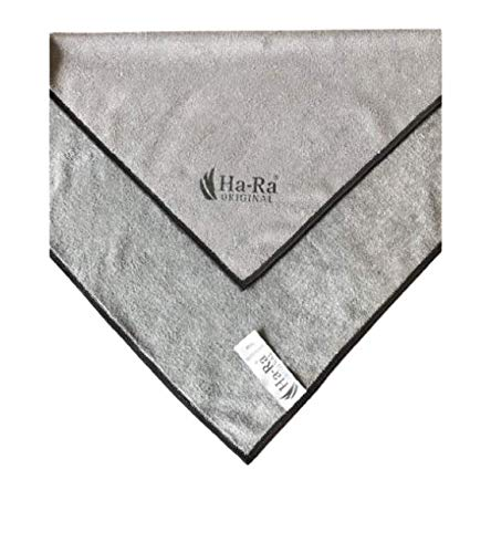 Ha-Ra Star Tuch anthrazit grau 38 x 38 cm