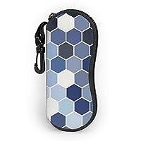 メガネケース、ハニカム六角形フィギュアサングラスメガネ保護ケースソフトケース