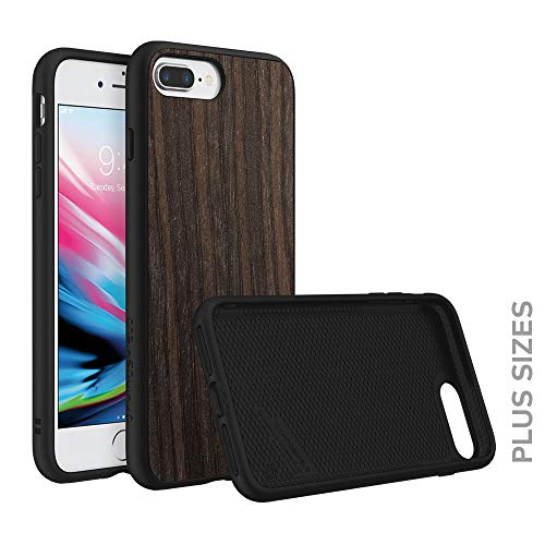 RhinoShield Case Compatible with [iPhone 8 Plus/iPhone 7 Plus] | SolidSuit - Shock Absorbent Slim Design Protective Cover [3.5 M / 11ft Drop Protection] - Black Oak