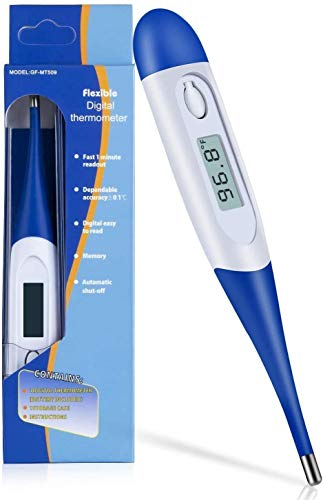 Digital Thermometer for Adults and Children Large Face LCD Fast Read - Instant Read Thermometer for Fever Detection with Quick 5 Second Read Time