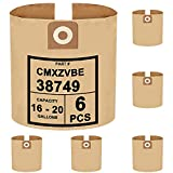 SpaceTent 6 Pack CRAFTSMAN 16 and 20 Gallon Wet/Dry Vac Dust Collection Bags, Part # CMXZVBE38749 38749, General Purpose Vacuum Filter Bags